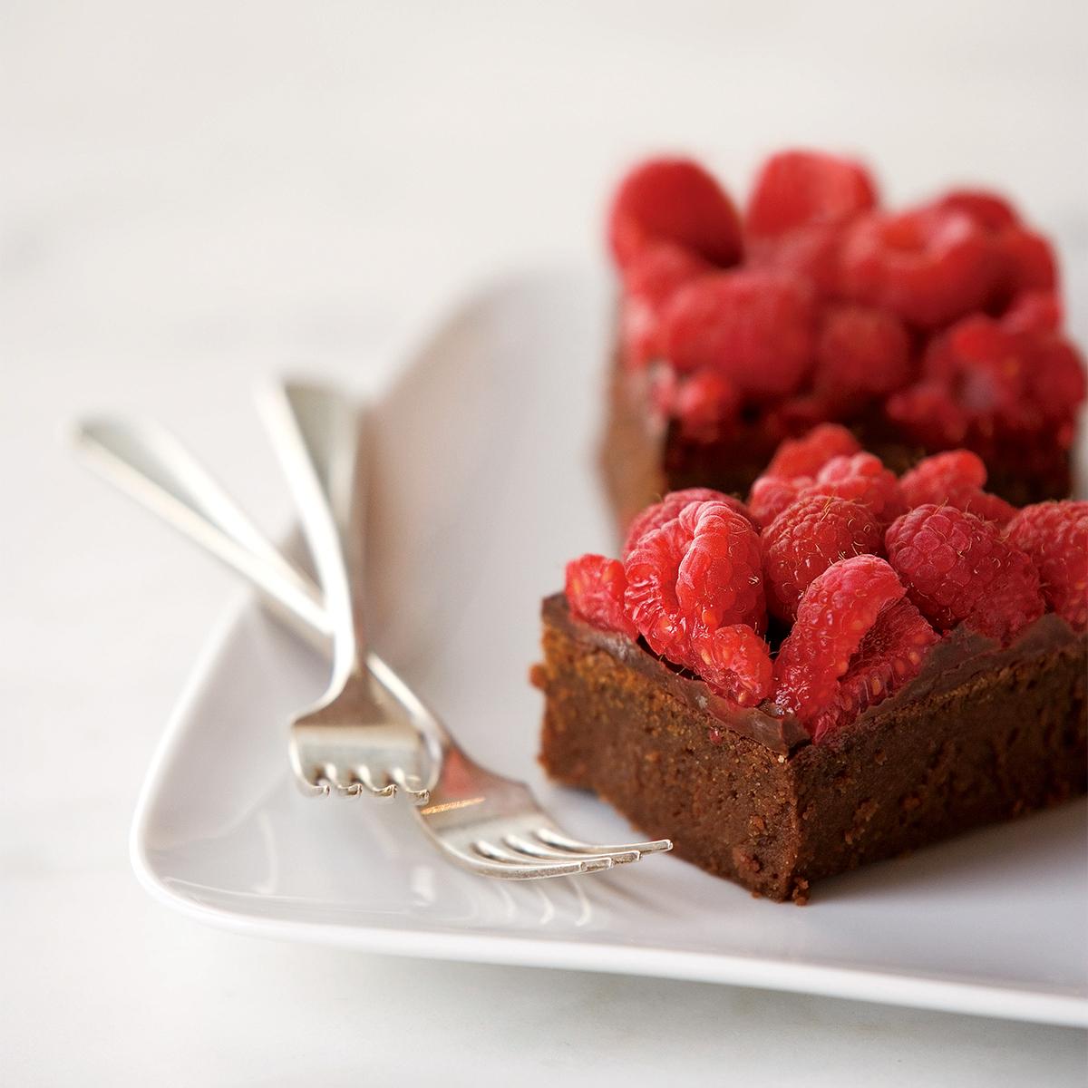 chocolate raspberry truffle bars