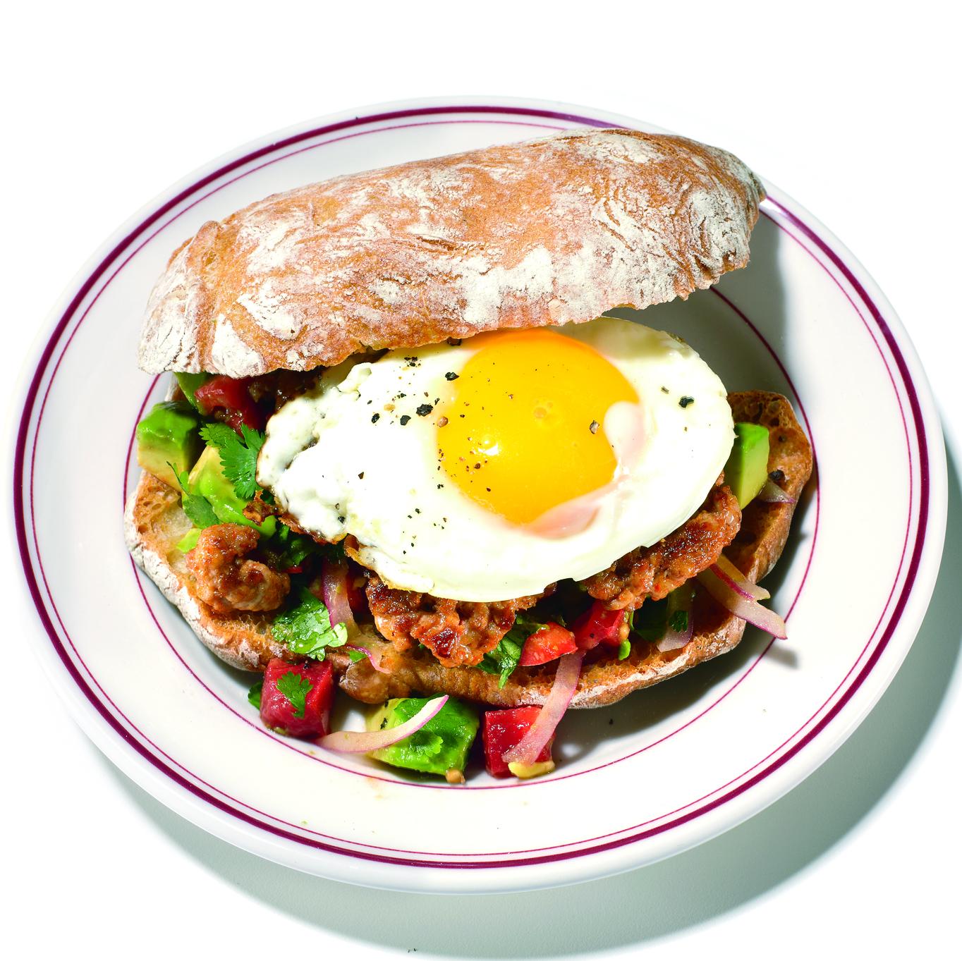 Chorizo-and-Fried-Egg Sandwiches