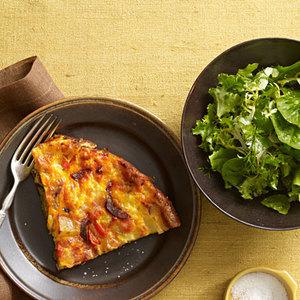 Chorizo-Potato Frittata and Green Salad