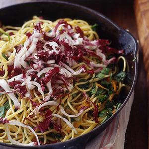 Citrus Spaghetti with Shredded Radicchio