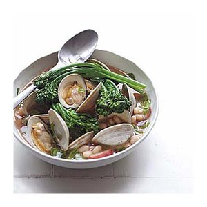 Clam Soup with Potatoes and Beans