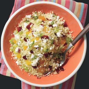 Couscous with Dried Fruit & Feta