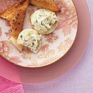 Crab Salad on Rice Crackers