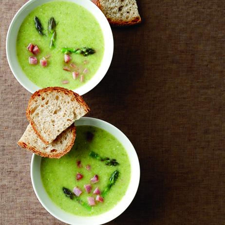 Creamy Asparagus-and-Ham Soup