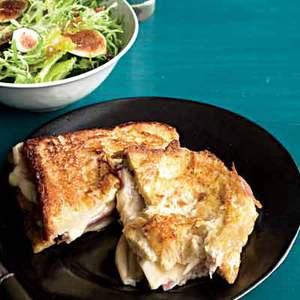 Croque Monsieur-Style Monte Cristo Sammies with Figgy Salad