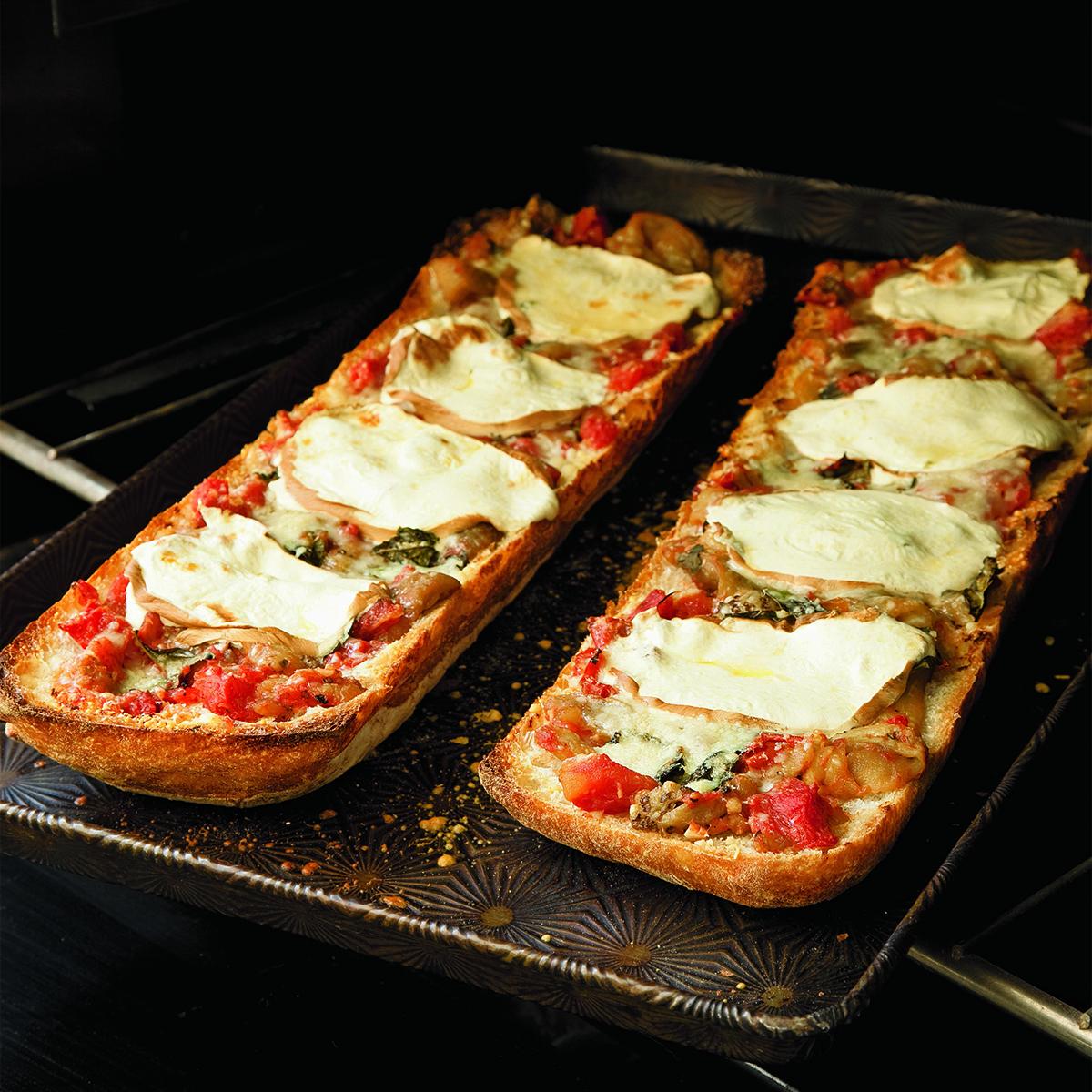 Eggplant Parm Bread Pizza