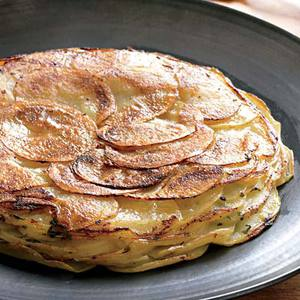 Fancy Potato Pancake with Herbed Sour Cream