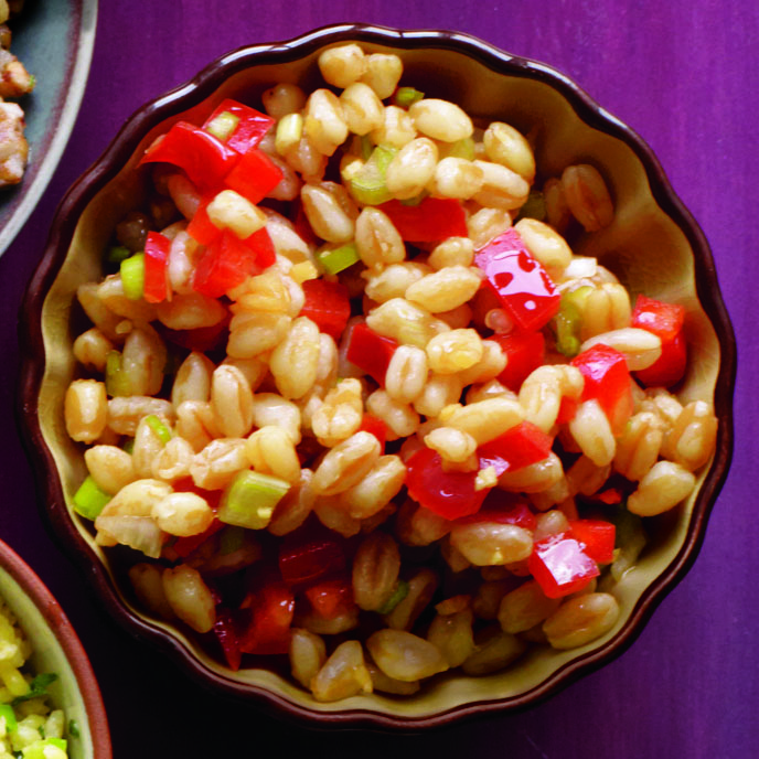 Farro-and-Red Pepper Salad with Sesame and Ginger