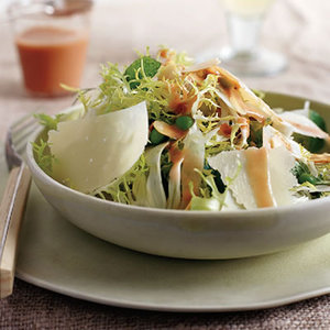 Frisee Salad with Strawberry Vinaigrette