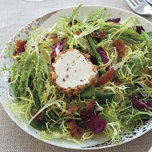 Frisee with Goat Cheese and Bacon
