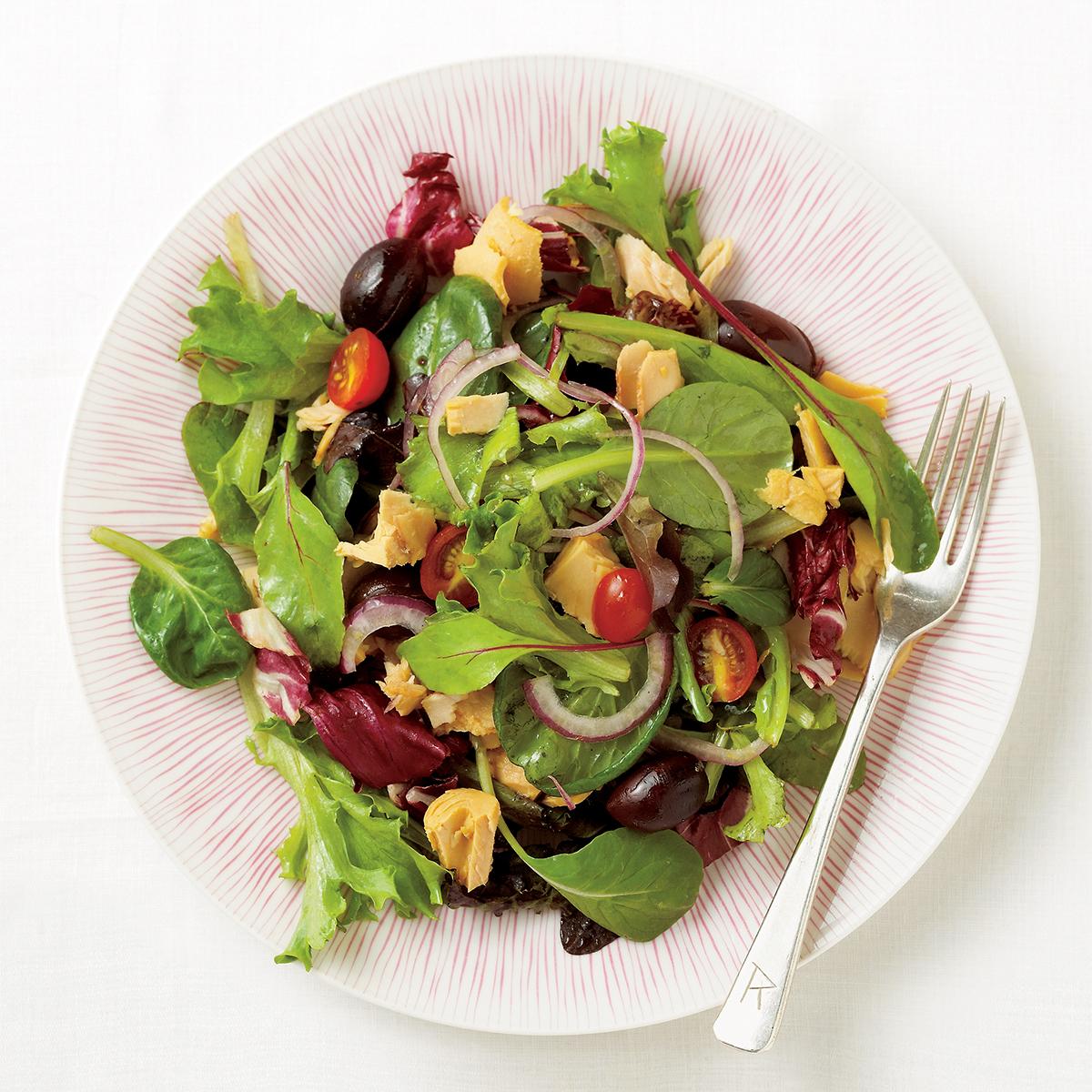 Greek-Style Tuna Salad with Citrus Dressing