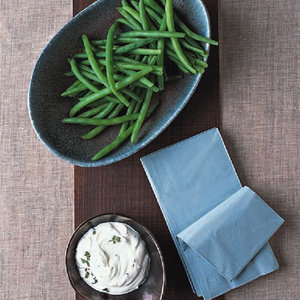 Green Bean Crudites with Creamy Sage Dip