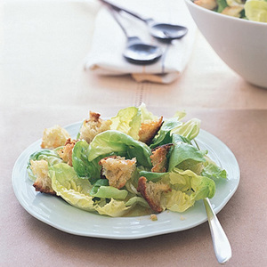 Green Salad with Torn Croutons