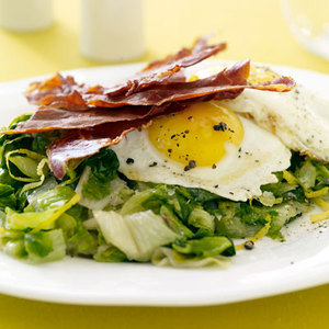Greens with Eggs and Ham