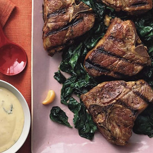 Grilled Lamb Chops with Blender Bearnaise