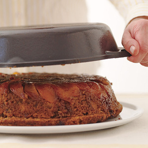 Grilled Peach Upside-Down Cake
