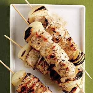 Grilled Pork Kebabs with Cucumber Tzatziki