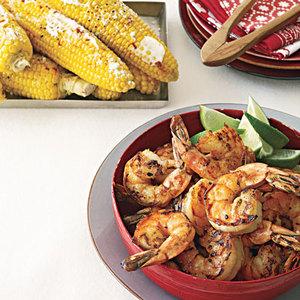 Grilled Shrimp and Cuban Corn
