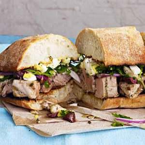Grilled Tuna Pan Bagnats