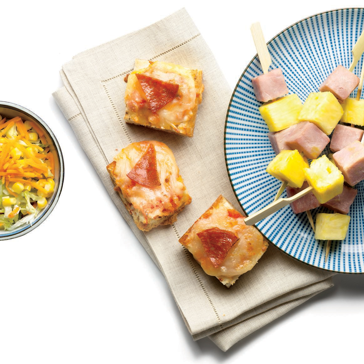 ham and pineapple bites with brown sugar mustard sauce