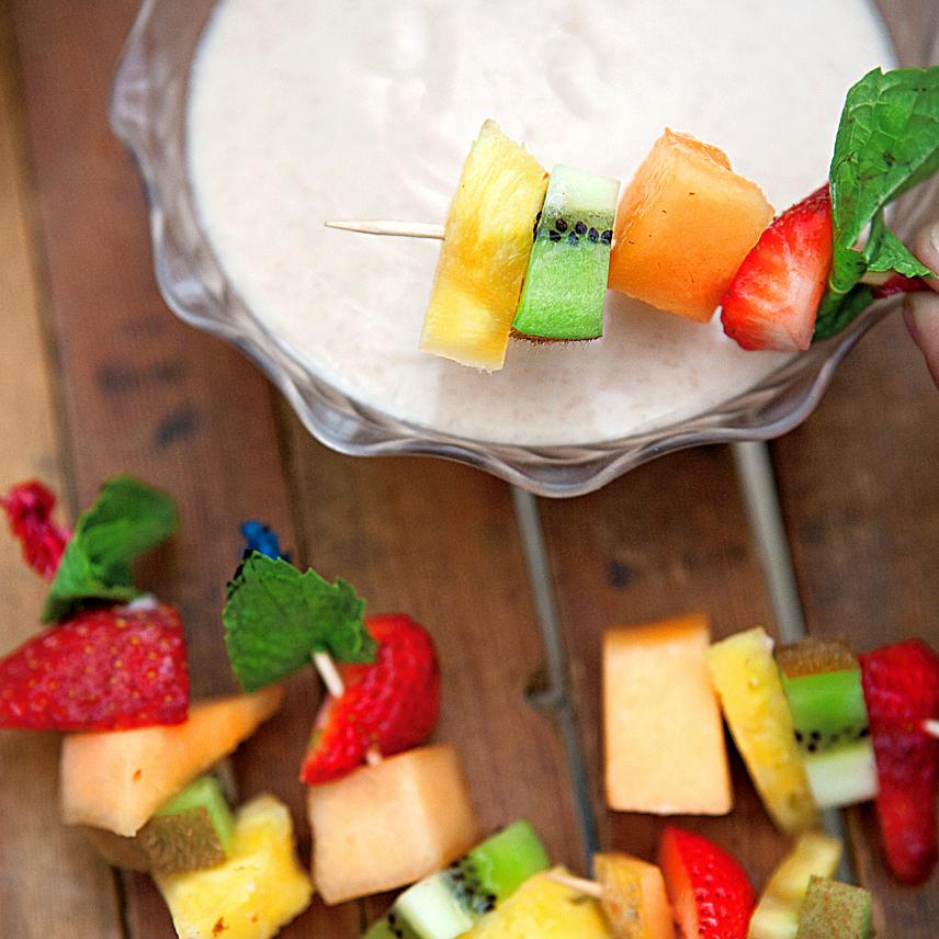 Honey-Yogurt Dip with Fresh Fruit