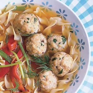 Hungarian-ish Dumpling and Egg Noodle Soup
