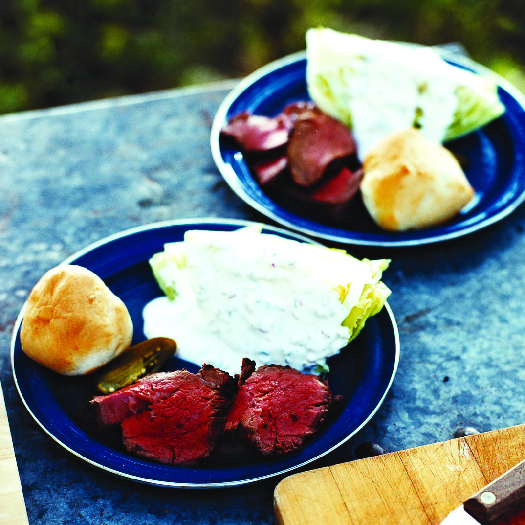 Iceberg Wedges with Ranch Dressing