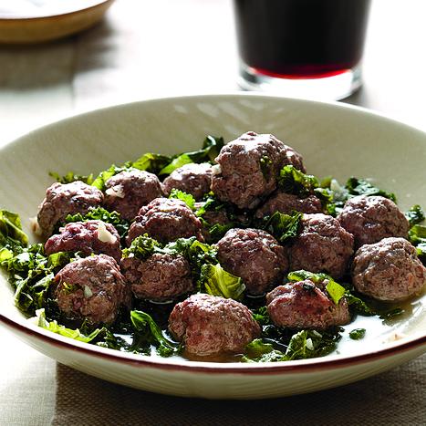 Kale and Mini Meatballs