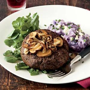 Knife 'n' Fork Steak Burgers with Blue Cheese Potatoes