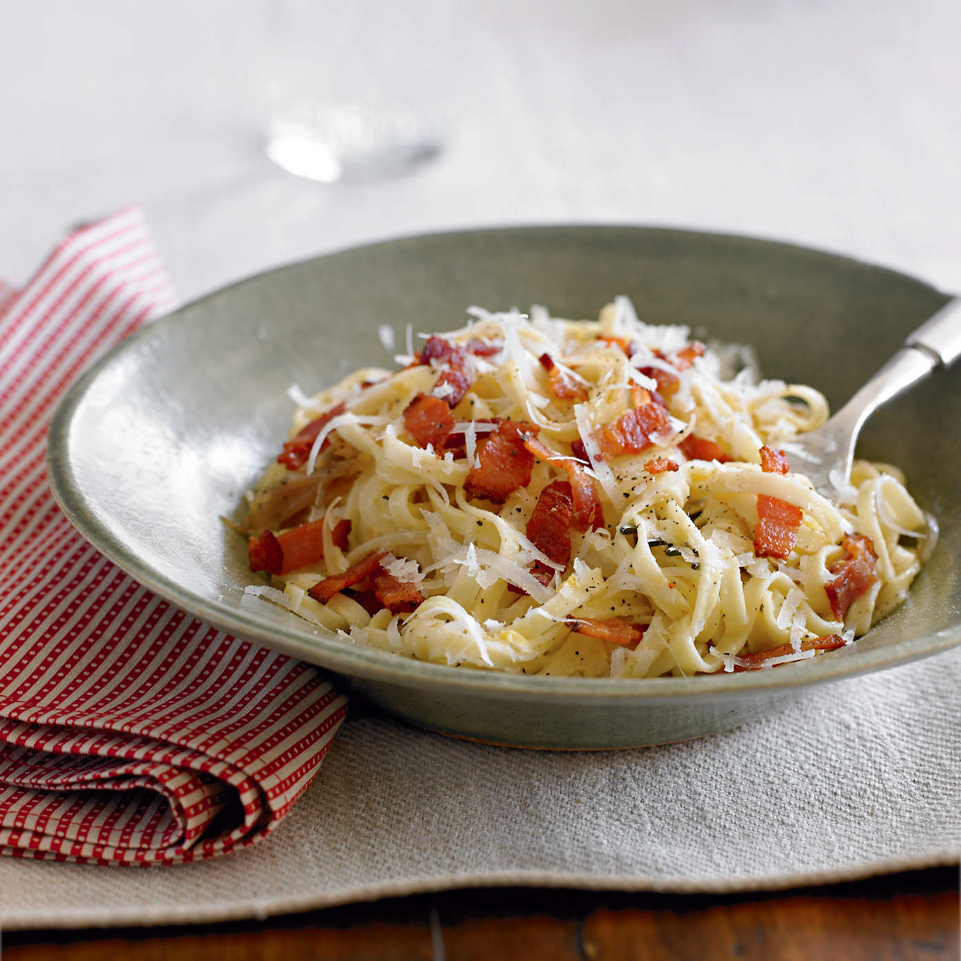 linguine with bacon and onions