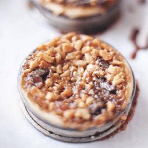 Macadamia Nut-Chocolate Tarts