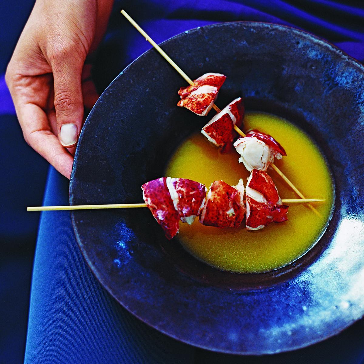 maine squeeze lobster skewers