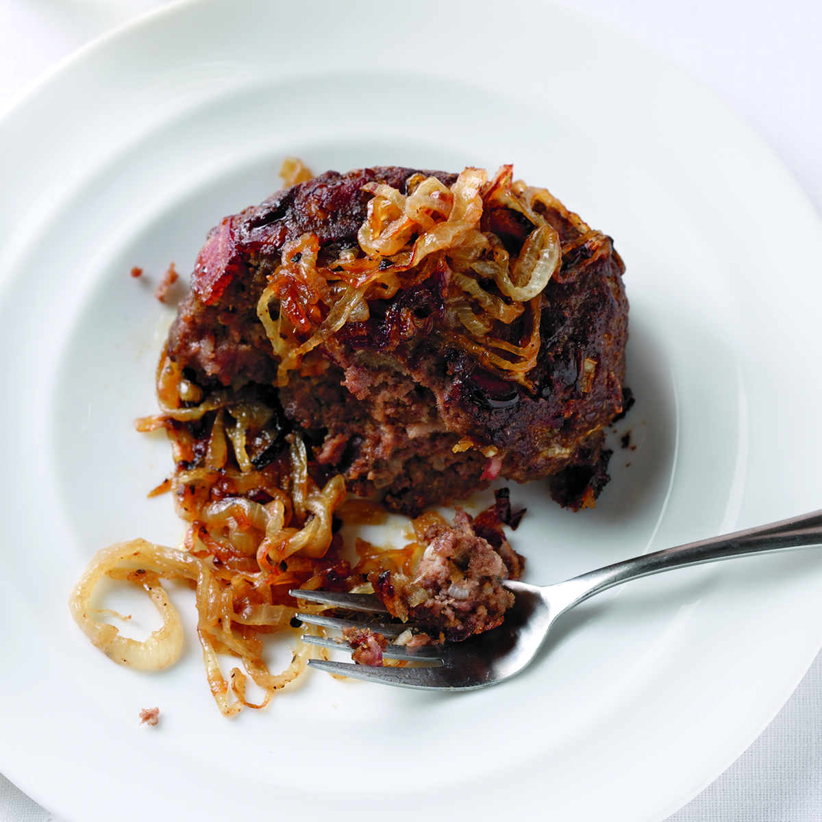 mini meatloaves smothered with onions