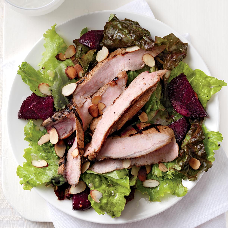 Orange Pork and Roasted Beet Salad