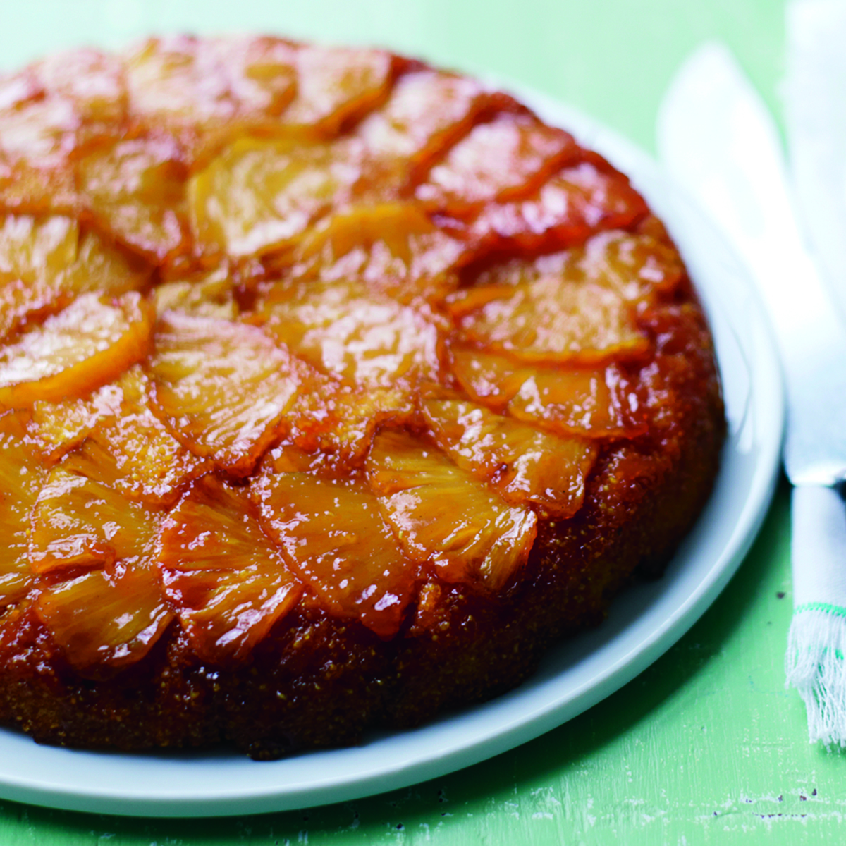 Pineapple Upside-Down Corn Cake