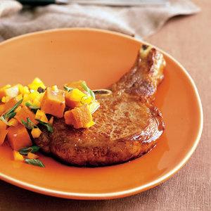Pork Chops with Sweet-Potato Salad