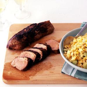 Pork Tenderloin with Apple Succotash