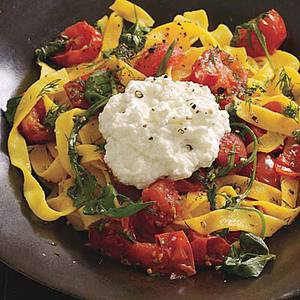 Ribbon Pasta with Tomato, Dill and Ricotta