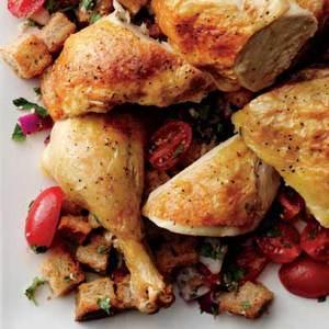Roast Chicken with Panzanella
