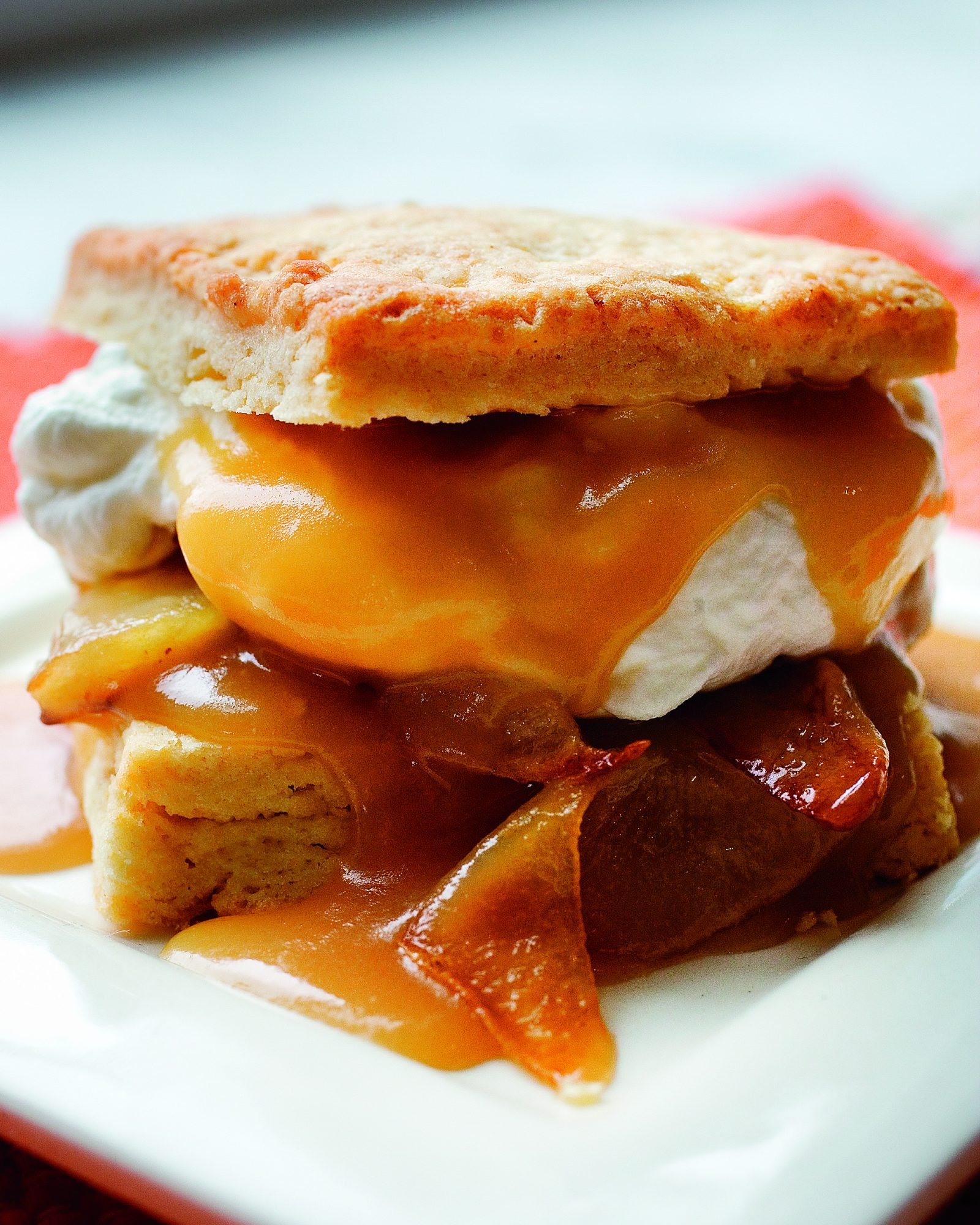 Roasted Pear Shortcakes with Warm Toffee Sauce