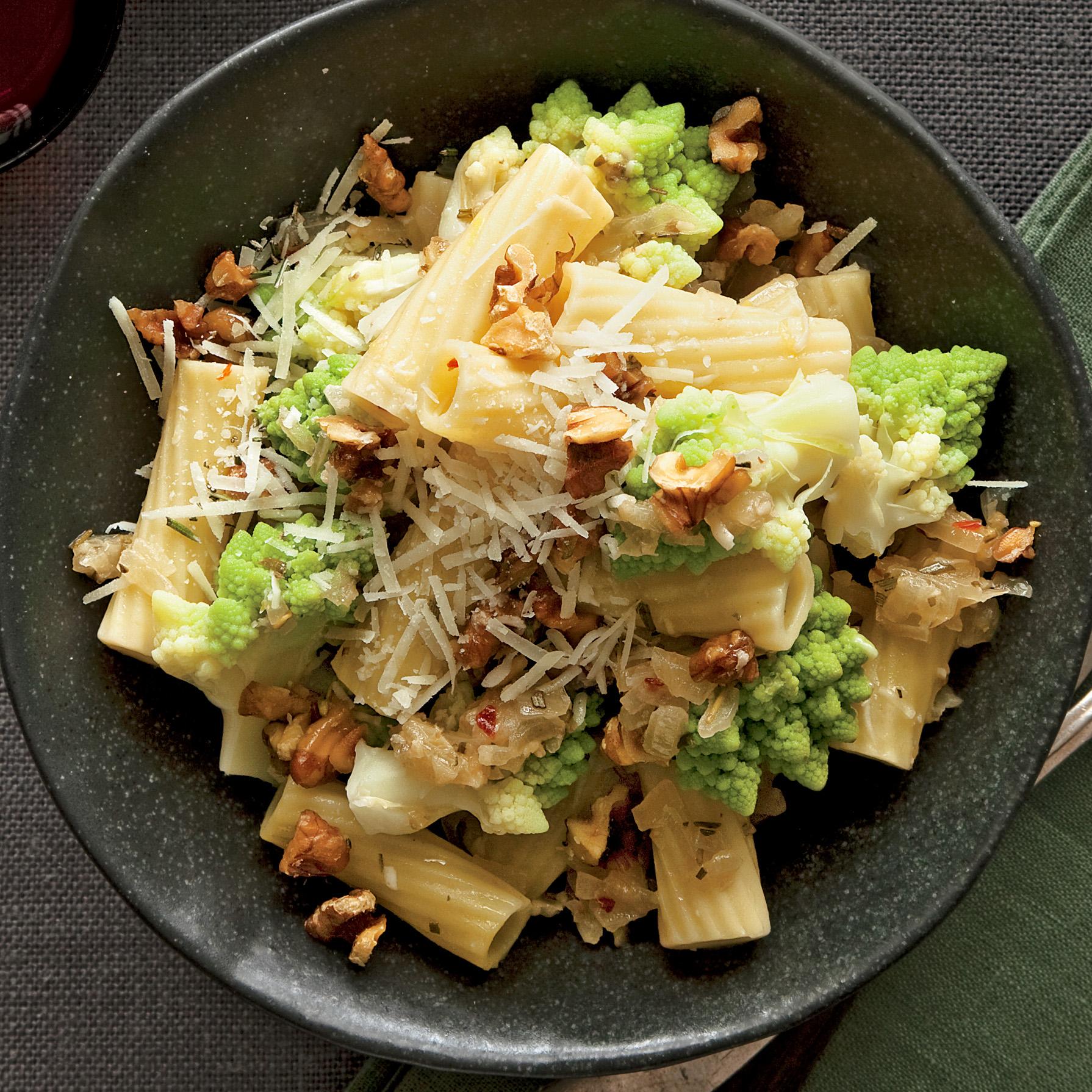 Romanesco Broccoli and Rigatoni