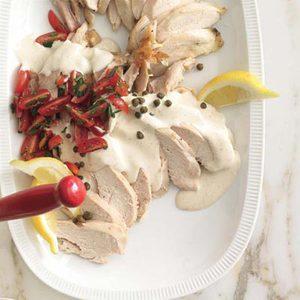 Rotisserie Chicken Tonnato with Tomato Salad
