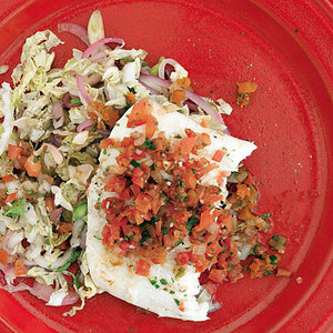 Salsa Baked Fish with Cider Slaw