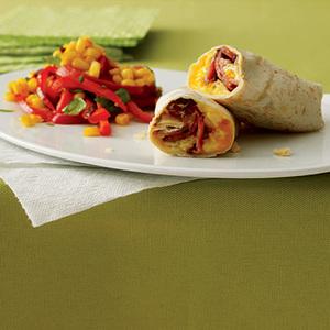 Scrambled Egg Burritos with Tex-Mex Salad
