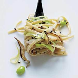 Shiitake, Leek and Sesame Noodles