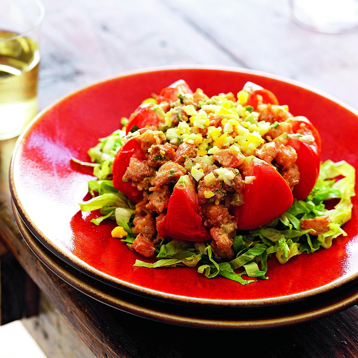 Shrimp-Stuffed Tomatoes
