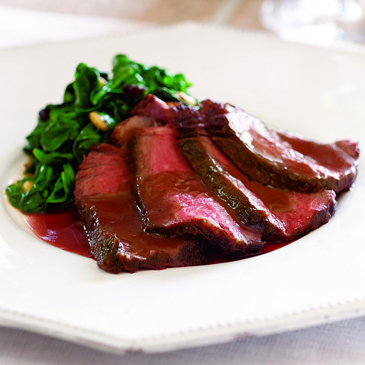 Sliced Steak with Brunello Sauce