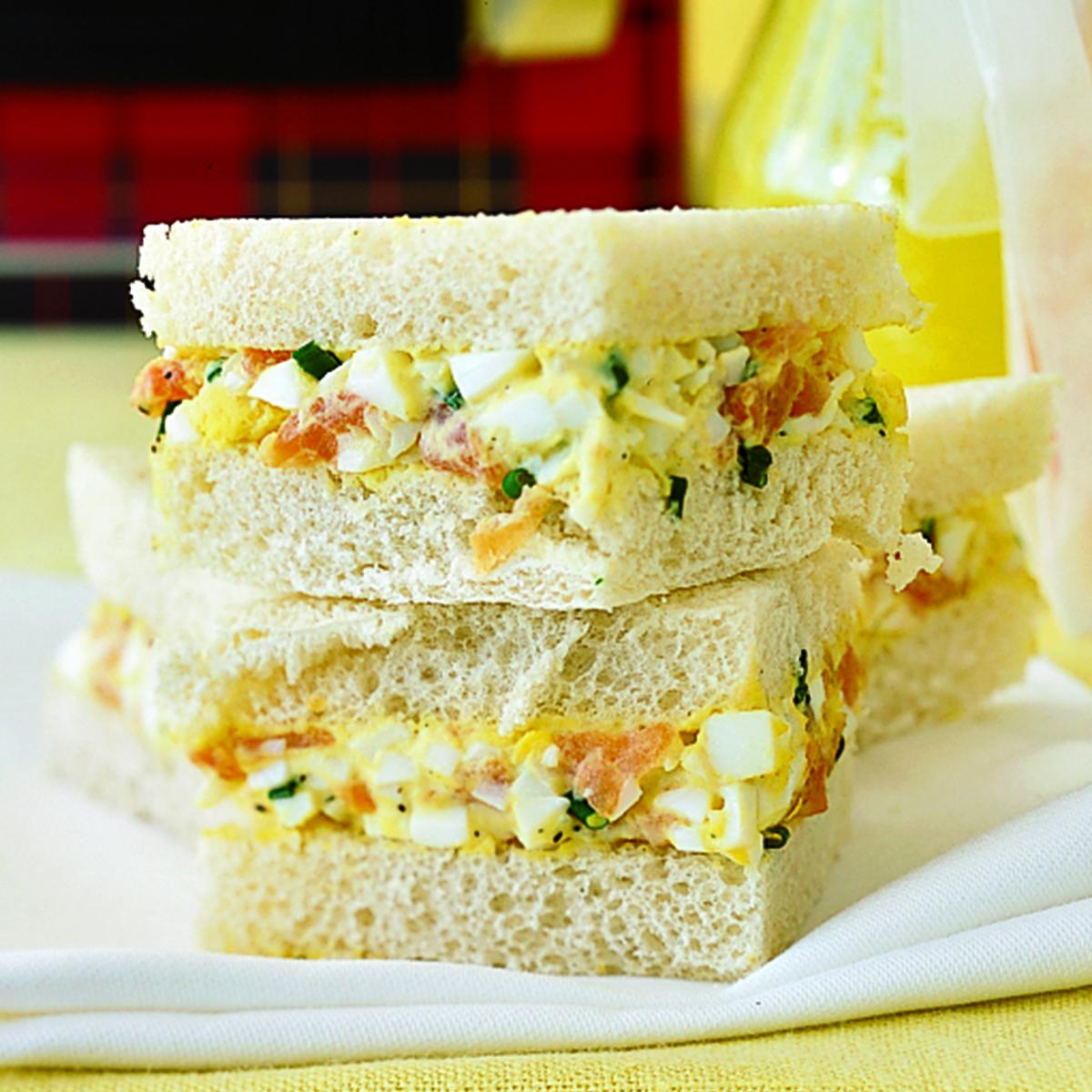 Smoked Salmon and Egg Salad Tea Sandwiches