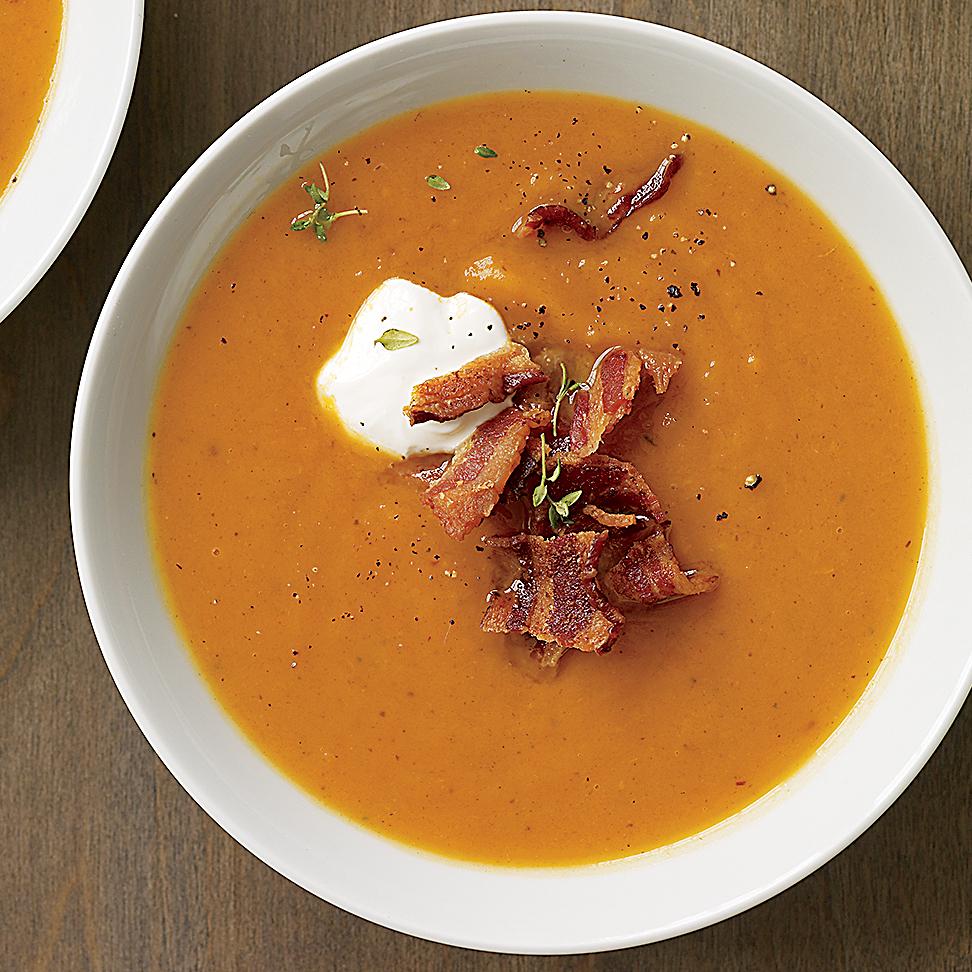 Smoky-Spicy Sweet Potato Soup