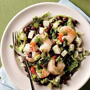 Southwestern Shrimp-and-Bean Salad